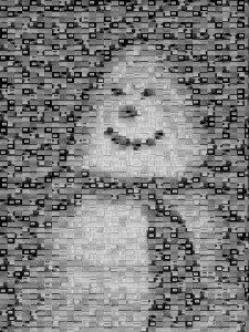Screenshot mosaic snowman