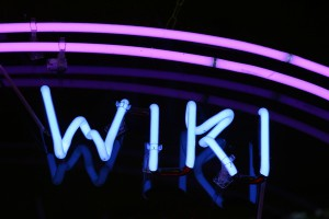 wiki neon sign