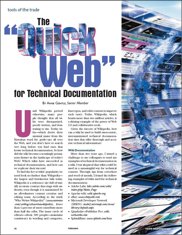 """The """"Quick Web"""" for Technical Documentation 